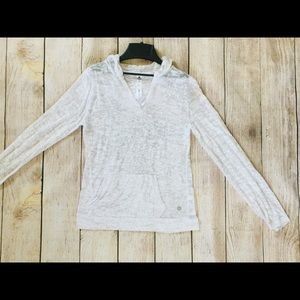90 DEGREE BY REFLEX White Pull over Hoodie Sz: L